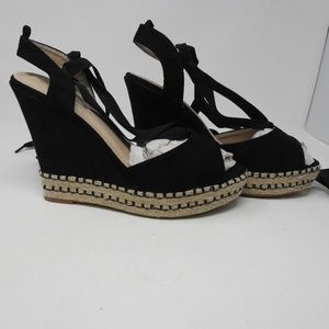 Shoes - Black Lace up the ankle high heel